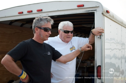 Graham Wilson and Peter Talley check out the final reassembly of the Cooper. Photo by Mike Wilson ©2012. All Rights Reserved.