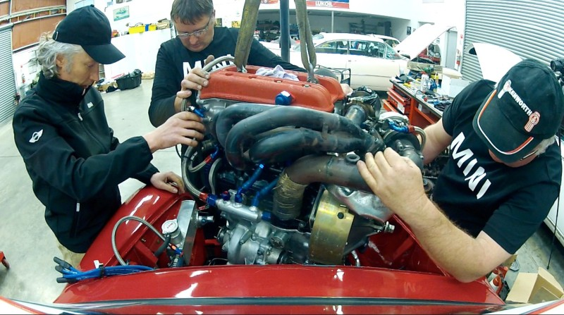 P64 Mini engine install  - 2