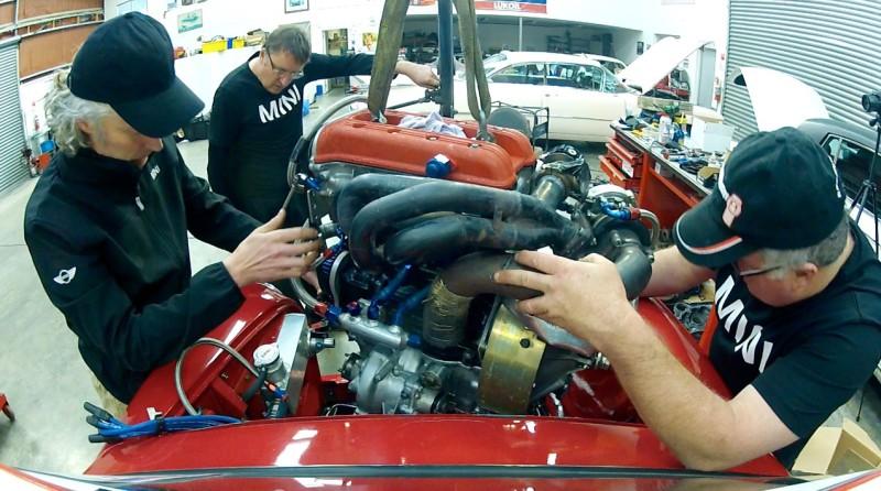 P64 Mini engine install  - 3